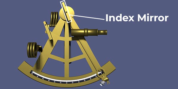 Sextant diagram with index mirror highlighted