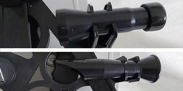 Telescope and viewfinder on the Davis Mk15 Sextant
