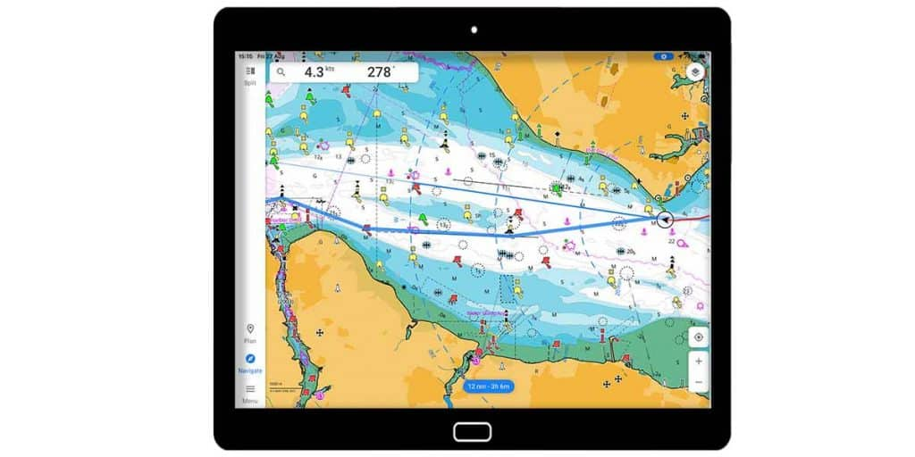 C-Map on a tablet