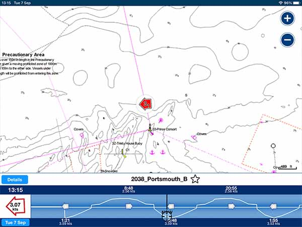 Current data within the Navionics Boating App